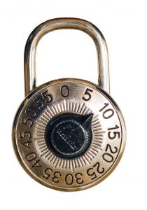 Old time lock.
