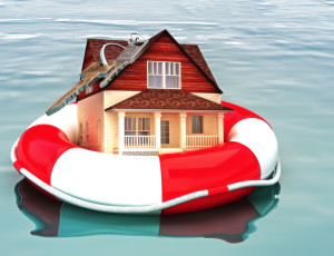 House wearing a life saver surviving from a flood.