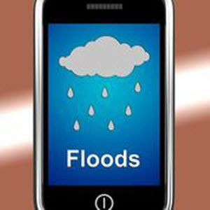 Phone notifying the user for floods.