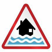 Flood area signage.