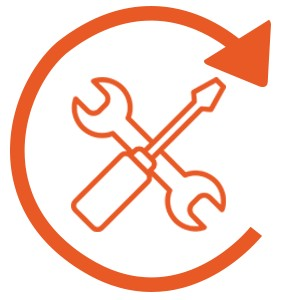 Wide scope of damage restoration skills icon.